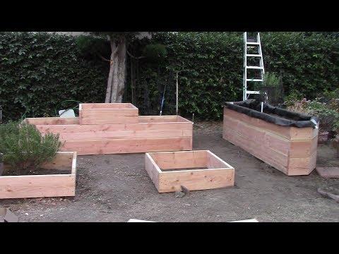 Backyard Ecological Landscape: Garden Boxes