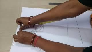 4 tuks blouse cutting with easy method 36 inch