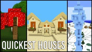 Building the Quickest Minecraft Houses I can think of...