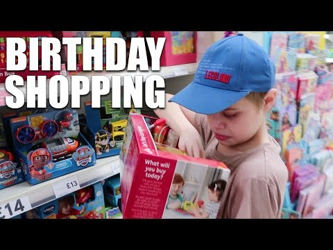 SHOPPING FOR BIRTHDAY GIFTS & CAKE | AUTISM FAMILY VLOG