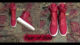 "Blood Red Fear of God ""Military Sneaker"""