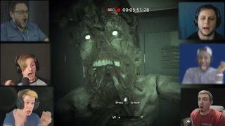 """""""Реакции Летсплейщиков"""" на Нападение Монстра из Outlast 2 Demo"""