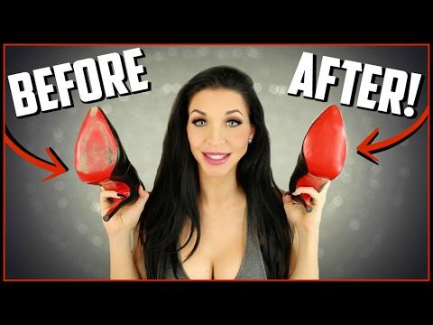 Christian Louboutin Fix -  How To Touch Up Red Bottoms - DIY Louboutin Repair | Kimbyrleigha