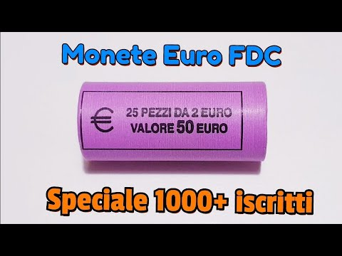 Monete Euro FDC da Rotolino - Euro Coins Roll UNC