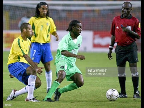 Jay Jay Okocha  vs Brazil (Friendly 2003)