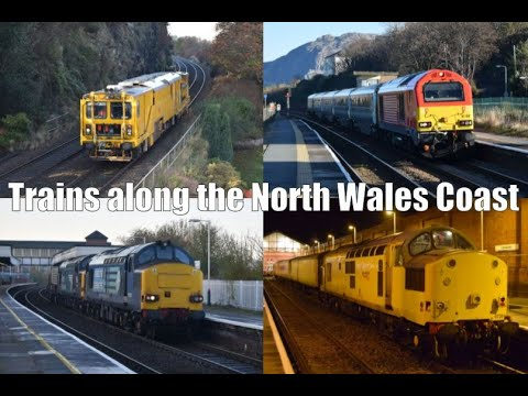 Trains on the North Wales Coast featuring classes 37, 56, 67…
