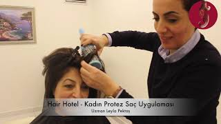 Kadın Protez Saç Uygulaması