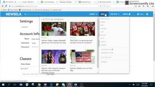 How to access newsela and take the quiz