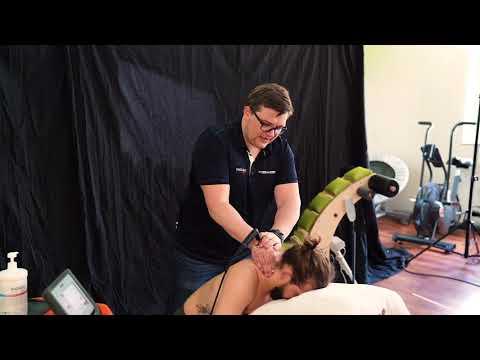 Familie Gesundheit Ultraschall des Kniegelenks