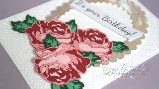 Simply Cards & Papercraft 174 (SC&P174) - Altenew Layered Rose Die Set