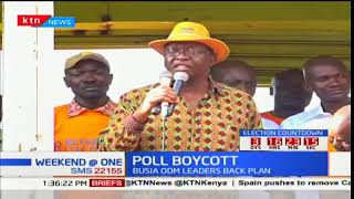 ODM MPs organise rally in Busia to rally residents to boycott elections