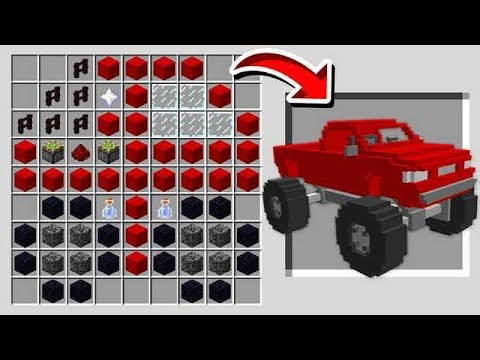 HOW TO CRAFT A MONSTER TRUCK IN MINECRAFT!