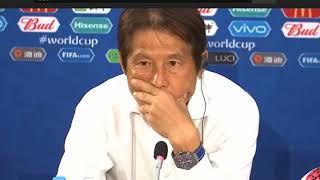 西野朗日本代表ベルギー戦試合後インタビュー2018FIFAワールドカップ