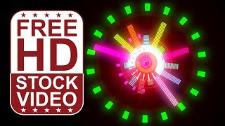FREE HD themed video backgrounds – music: circular audio equalizer bars pulsing spinning