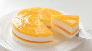 オレンジ・レアチーズケーキの作り方 No-Bake Orange Cheesecake*Eggless Recipe|HidaMari Cooking