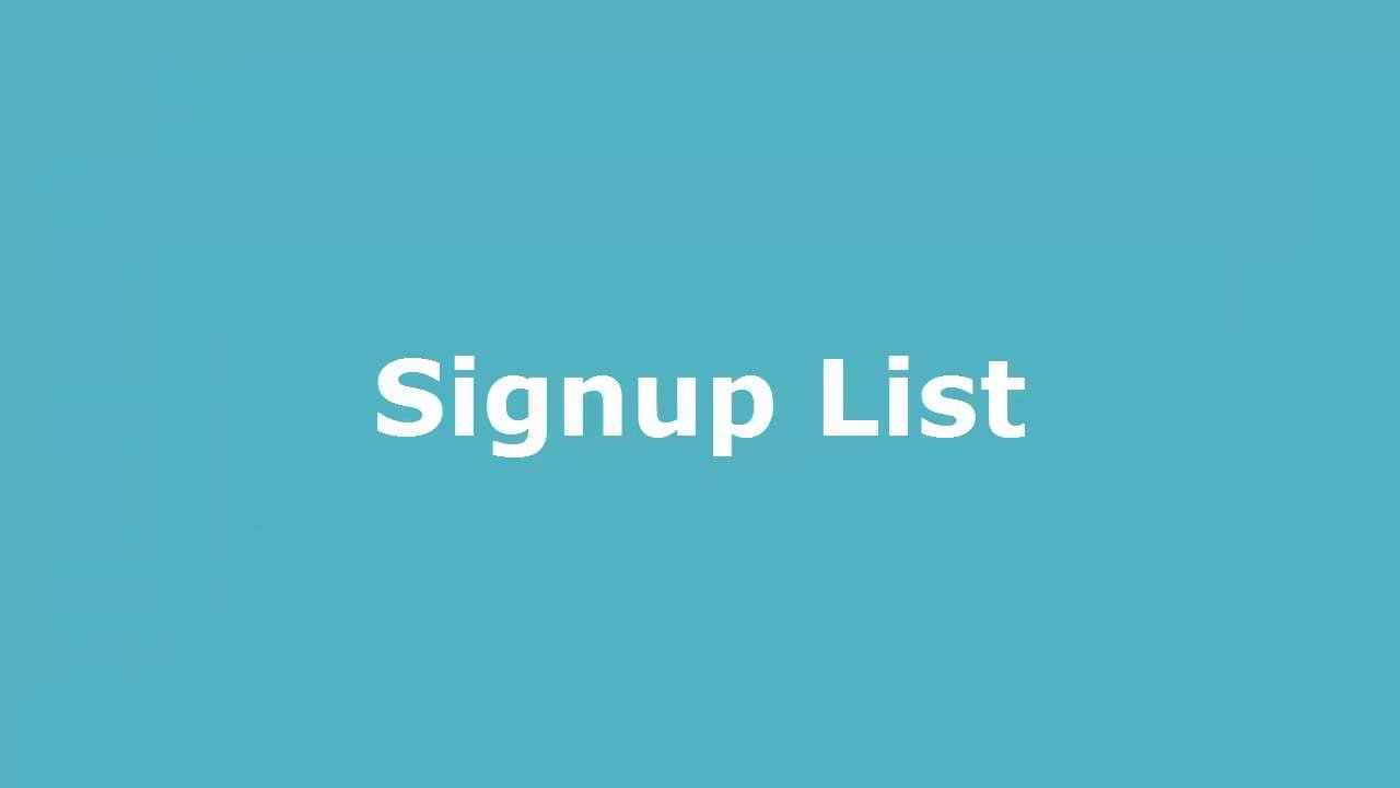 Play SOLE Signup List
