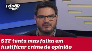Rodrigo Constantino: Temos que parar de fingir que vivemos num Estado democrático de Direito