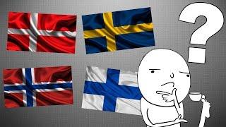 Почему некоторые флаги так похожи ?