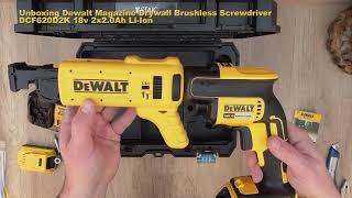 #Unboxing #Dewalt DCF620D2K Drywall Brushless Screwdriver DCF620D2K