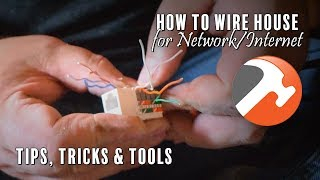 How To Wire house for Network/Internet - tips, tools & tricks. Cat5e/Cat6/RJ45