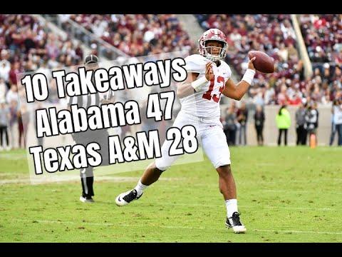 Alabama Crimson Tide Football 10 takeaways following 47-28 victory over Texas A&M