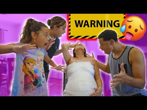 WE DID THE PREGNANCY BELLY CAST... AND NICOLE ALMOST PASSES OUT!!