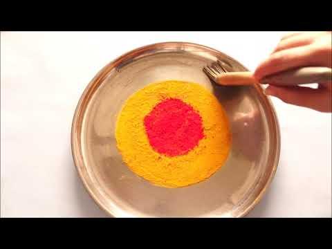 DIY - Pooja Thali for Navratri Festival - Aarti Thali Decoration with Haldi & Kum-kum