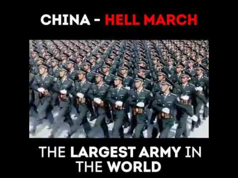 THE LARGEST ARMY IN THE WORLD. CHINA HELL MARCH