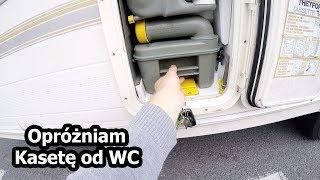 Trzecia Noc w Przyczepie, Opróżniam Kasetę od WC, Organizuję Wodę i Wylewam Brudy (Vlog #75)