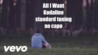 all i want kodaline lyrics and chords