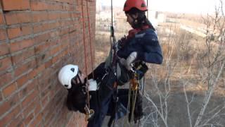Промышленный альпинизм Хабаровск. Тренируемся. Спасательные работы.