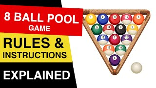 8 Ball Pool Rules : How to Play 8 Ball Pool : 8 Ball Pool EXPLAINED!