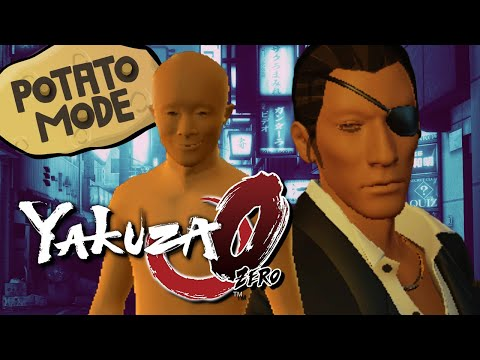 Yakuza 0's Lowest Graphic Settings Get Weird | Potato Mode