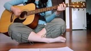 YUI - Last train. Acoustic cover