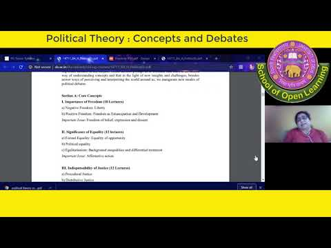 POLITICAL THEORY: CONCEPT AND DEBATES By - MONIKA