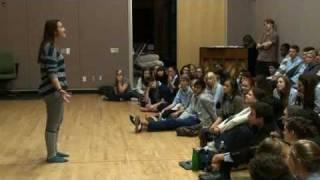 Sutton Foster masterclass at Interlochen Arts Academy
