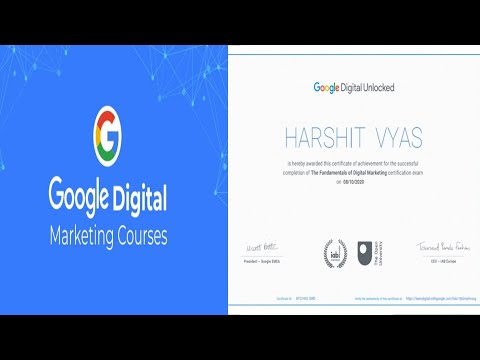 Free digital marketing course certificate with Google - YouTube