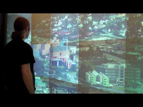 Navigate 13.3 Gigapixel Image via 22 Megapixel Wall
