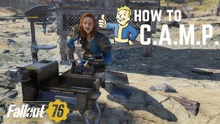 How to C.A.M.P. in Fallout 76! PS4 Controls