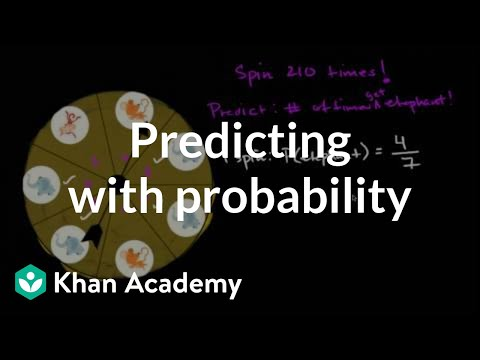 Making predictions with probability (video) Khan Academy