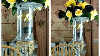 DIY| Black And Gold Glam Centerpiece