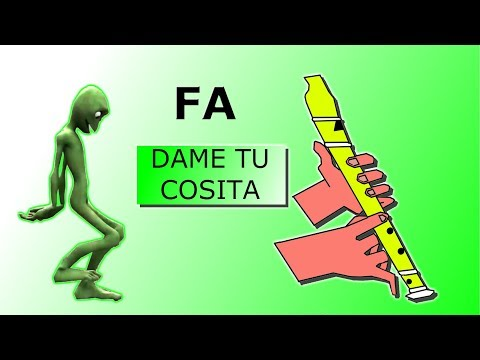 , title : 'DAME TU COSITA, FLAUTA DULCE FÁCIL, TUTORIAL CON ANIMACIÓN, NOTAS MUSICALES.'