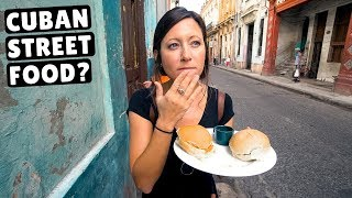 CUBAN STREET FOOD | What locals eat in Cuba | Havana Travel Vlog