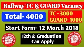 Railway TC, GUARD & CLERK Recruitment 2018 : RRB Upcoming Vacancy for TC, GUARD & CLERK 2018