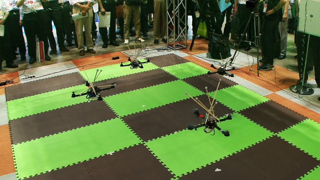 Watch These Quadcopters Fly In Perfect Formation Thanks To Motion Capture