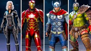 MARVEL'S AVENGERS All Skins & Suits