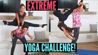 EXTREME Yoga Challenge with my Sister!! | Brent Rivera