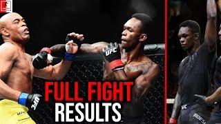 Israel Adesanya Vs Anderson Silva UFC 234 Full Fight Results