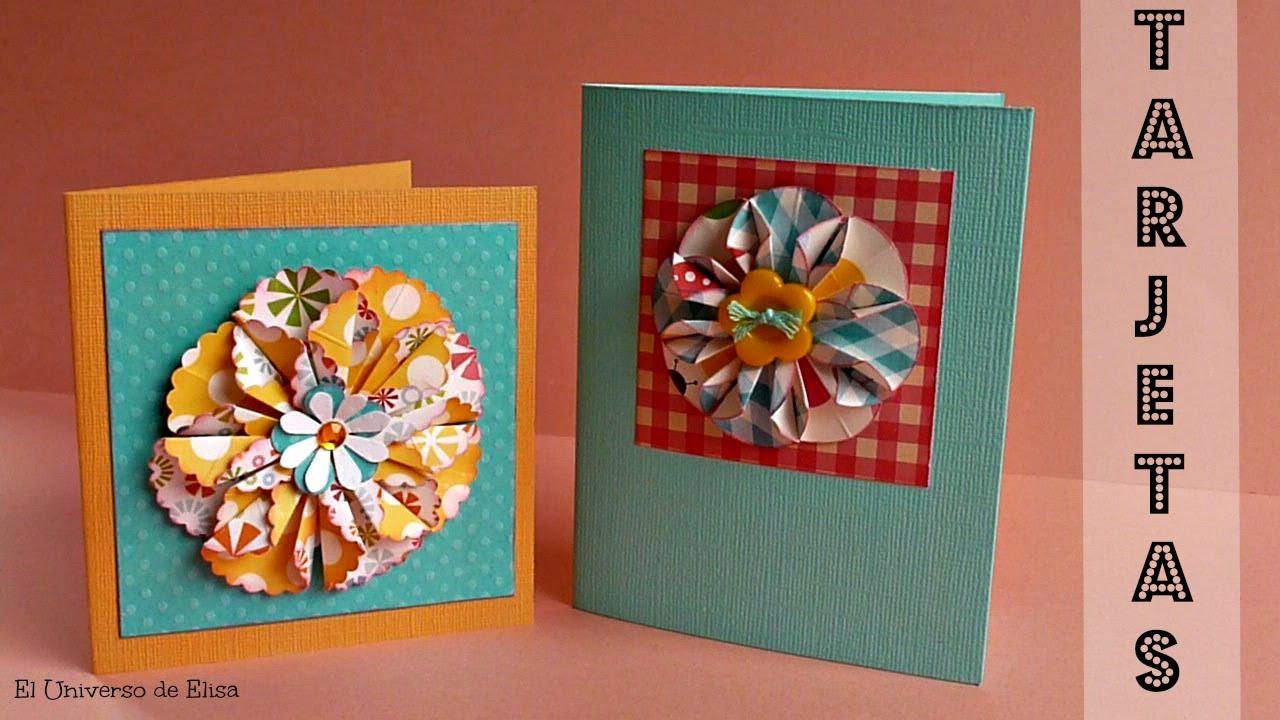 DIY, Tarjeta Scrapbook Fácil y Original, Tarjeta de Felicitación, Tarjeta para el Día de la Madre