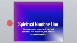 Inspirational Christian video for your personal development: Spiritual Number Line